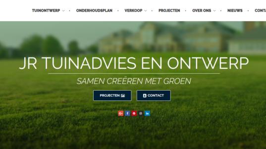 JR Tuinadvies en ontwerp website