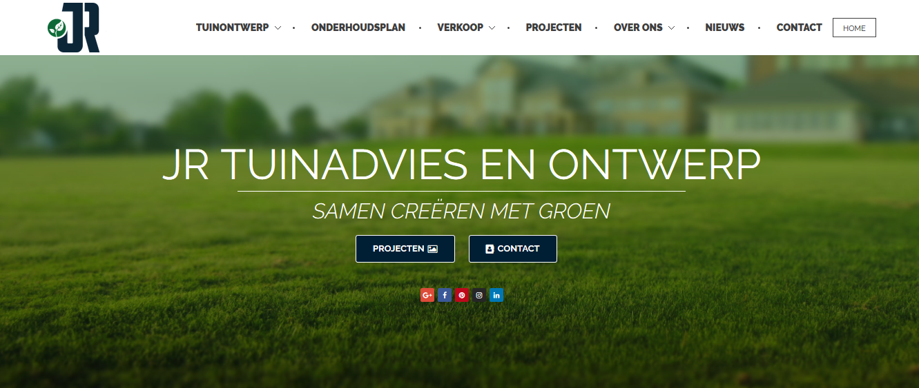 JR Tuinadvies en ontwerp website