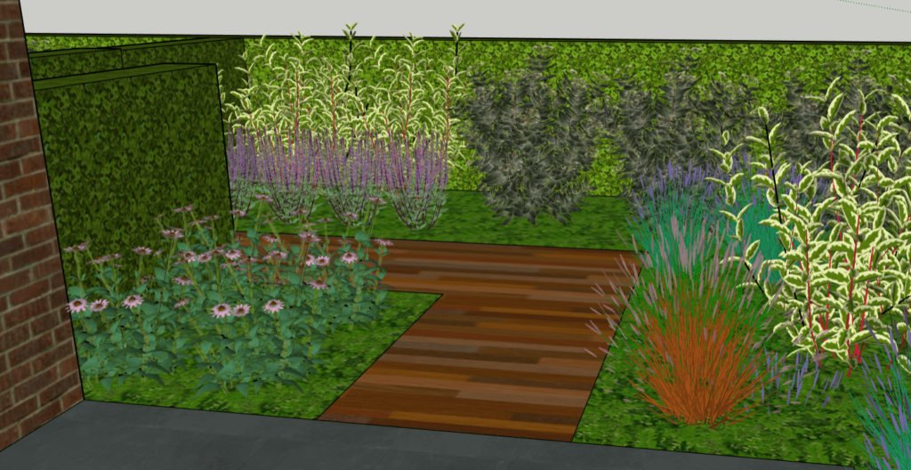 Tuinontwerp voorbeeld achtertuin