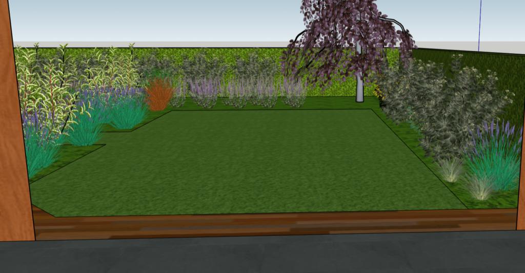 Voorbeeld tuinontwerp achtertuin