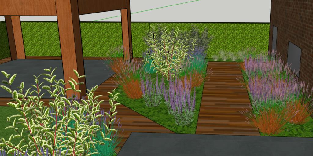 Voorbeeld tuinontwerp grote tuin