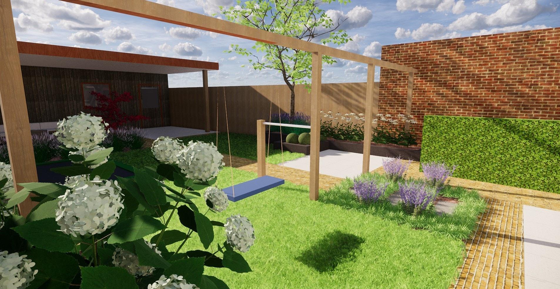 3D tuinontwerp Overijssel